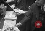 Image of Newspaper headlines tell of Allied invasion New York City USA, 1944, second 21 stock footage video 65675051457