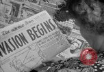 Image of Newspapers carry stories about Allied Invasion of France New York City USA, 1944, second 17 stock footage video 65675051458