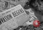 Image of Newspapers carry stories about Allied Invasion of France New York City USA, 1944, second 20 stock footage video 65675051458