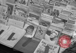 Image of Newspapers carry stories about Allied Invasion of France New York City USA, 1944, second 22 stock footage video 65675051458