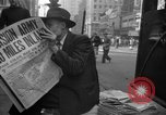 Image of Newspapers carry stories about Allied Invasion of France New York City USA, 1944, second 56 stock footage video 65675051458