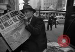 Image of Newspapers carry stories about Allied Invasion of France New York City USA, 1944, second 59 stock footage video 65675051458