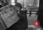 Image of Newspapers carry stories about Allied Invasion of France New York City USA, 1944, second 60 stock footage video 65675051458