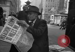 Image of Newspapers carry stories about Allied Invasion of France New York City USA, 1944, second 61 stock footage video 65675051458