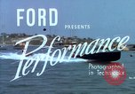 Image of motorboat pulling man and woman balanced on aquaplane United States USA, 1939, second 4 stock footage video 65675051556