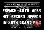 Image of Formula One Grand Prix France 1936 Montlhéry France, 1936, second 1 stock footage video 65675051557