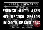 Image of Formula One Grand Prix France 1936 Montlhéry France, 1936, second 5 stock footage video 65675051557