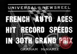 Image of Formula One Grand Prix France 1936 Montlhéry France, 1936, second 8 stock footage video 65675051557