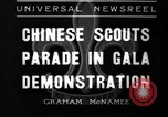 Image of Chinese scouts Shanghai China, 1936, second 1 stock footage video 65675051561