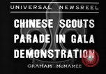 Image of Chinese scouts Shanghai China, 1936, second 6 stock footage video 65675051561