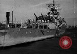 Image of German cruiser Admiral Graf Spee Montevideo Uruguay, 1939, second 15 stock footage video 65675051596