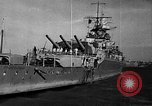 Image of German cruiser Admiral Graf Spee Montevideo Uruguay, 1939, second 17 stock footage video 65675051596
