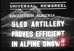 Image of sled artillery Austria, 1935, second 1 stock footage video 65675051629