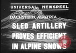 Image of sled artillery Austria, 1935, second 3 stock footage video 65675051629