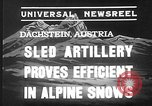 Image of sled artillery Austria, 1935, second 6 stock footage video 65675051629