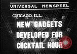 Image of models display cocktail bar gadgets Chicago Illinois USA, 1935, second 1 stock footage video 65675051632