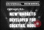 Image of models display cocktail bar gadgets Chicago Illinois USA, 1935, second 2 stock footage video 65675051632