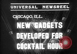 Image of models display cocktail bar gadgets Chicago Illinois USA, 1935, second 4 stock footage video 65675051632