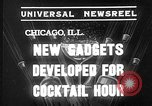 Image of models display cocktail bar gadgets Chicago Illinois USA, 1935, second 5 stock footage video 65675051632