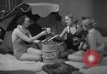 Image of models display cocktail bar gadgets Chicago Illinois USA, 1935, second 60 stock footage video 65675051632