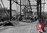 Image of Construction of Southside Bridge in Charleston West Virginia USA, 1937, second 4 stock footage video 65675051768