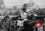 Image of President Roosevelt and Winston Churchill outside at Quebec Conference Quebec Canada, 1943, second 14 stock footage video 65675051786