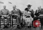 Image of President Roosevelt and Winston Churchill outside at Quebec Conference Quebec Canada, 1943, second 16 stock footage video 65675051786