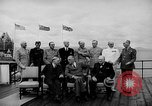 Image of President Roosevelt and Winston Churchill outside at Quebec Conference Quebec Canada, 1943, second 19 stock footage video 65675051786