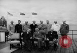 Image of President Roosevelt and Winston Churchill outside at Quebec Conference Quebec Canada, 1943, second 21 stock footage video 65675051786