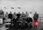 Image of President Roosevelt and Winston Churchill outside at Quebec Conference Quebec Canada, 1943, second 22 stock footage video 65675051786