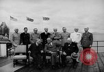 Image of President Roosevelt and Winston Churchill outside at Quebec Conference Quebec Canada, 1943, second 23 stock footage video 65675051786