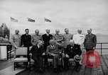Image of President Roosevelt and Winston Churchill outside at Quebec Conference Quebec Canada, 1943, second 24 stock footage video 65675051786