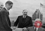 Image of President Roosevelt and Winston Churchill outside at Quebec Conference Quebec Canada, 1943, second 56 stock footage video 65675051786