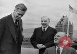 Image of President Roosevelt and Winston Churchill outside at Quebec Conference Quebec Canada, 1943, second 59 stock footage video 65675051786