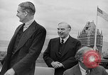 Image of President Roosevelt and Winston Churchill outside at Quebec Conference Quebec Canada, 1943, second 60 stock footage video 65675051786