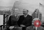 Image of President Roosevelt and Winston Churchill outside at Quebec Conference Quebec Canada, 1943, second 61 stock footage video 65675051786