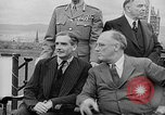 Image of President Roosevelt and Winston Churchill outside at Quebec Conference Quebec Canada, 1943, second 62 stock footage video 65675051786
