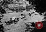 Image of horse drawn covered wagons United States USA, 1918, second 10 stock footage video 65675051805