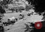 Image of horse drawn covered wagons United States USA, 1918, second 11 stock footage video 65675051805