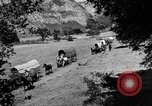 Image of horse drawn covered wagons United States USA, 1918, second 13 stock footage video 65675051805