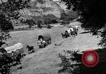 Image of horse drawn covered wagons United States USA, 1918, second 14 stock footage video 65675051805