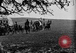 Image of horse drawn covered wagons United States USA, 1918, second 22 stock footage video 65675051805