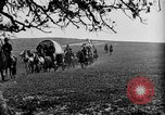 Image of horse drawn covered wagons United States USA, 1918, second 26 stock footage video 65675051805