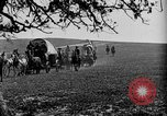 Image of horse drawn covered wagons United States USA, 1918, second 27 stock footage video 65675051805