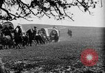 Image of horse drawn covered wagons United States USA, 1918, second 31 stock footage video 65675051805