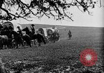 Image of horse drawn covered wagons United States USA, 1918, second 34 stock footage video 65675051805