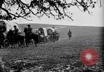 Image of horse drawn covered wagons United States USA, 1918, second 35 stock footage video 65675051805