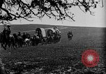 Image of horse drawn covered wagons United States USA, 1918, second 37 stock footage video 65675051805