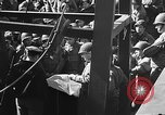 Image of American troops aboard LST English Channel, 1944, second 9 stock footage video 65675051823