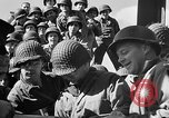 Image of American troops aboard LST English Channel, 1944, second 46 stock footage video 65675051823